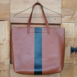 Madewell Bags - MADEWELL Paint Stripe Transport Leather Tote